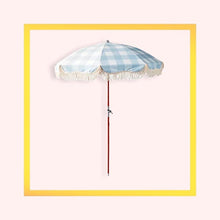 Load image into Gallery viewer, Portable Premium Wooden Parasol with fringed edging - 1 piece with a minimum order of 6 pieces - Pre order now