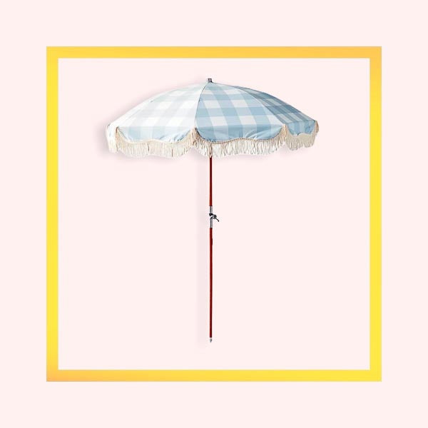 Portable Premium Wooden Parasol with fringed edging - 1 piece with a minimum order of 6 pieces - Pre order now