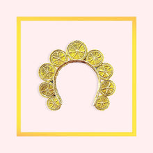 Load image into Gallery viewer, Hand Woven Colombian Crown with Lemons - 1 piece with a minimum order of 5 - Pre order now