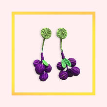 Load image into Gallery viewer, Hand Woven Colombian earings grapes - 1 pair for a minimum order of 10 - Pre order now
