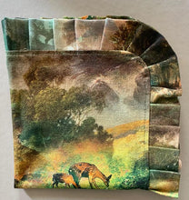 Load image into Gallery viewer, Dutch forest print tableset for two - to include 2 placemats + 2 napkins - Ready to ship