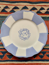 Load image into Gallery viewer, Custom monogram large dinner plate hand-painted by Tamadaba Estudio for Design Anarchy - 1 piece for a minimum order of 20 pieces - Pre order now