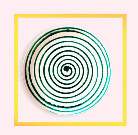 Spiral large dinner plates hand made in Apulia - 1 piece for a minimum order of 10 pieces - Pre order now