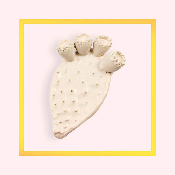 Prickly Pear in ceramic hand made in Apulia - 1 piece for a minimum order of 10 pieces - Pre order now