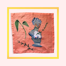 Load image into Gallery viewer, Hand drawn Renaissance linen napkins created especially for Design Anarchy by Gabriella Picone - 1 item with a minimum order of 20 pieces -  Pre order now