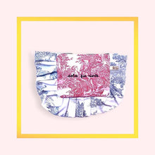 Load image into Gallery viewer, Bi-colour Toile de Jouy Volants Volant Pochette - 1 piece with a minimum order of 10 pieces - pre order now