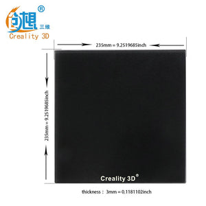 Upgrade Silicon Carbon Ender-3/Ender-3 Pro Build Surface Tempered Glass Plate with Special Chemical Coating 235x235x3mm for MK2 MK3 Hot bed