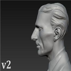 Bust of Nikola Tesla Free Model Download