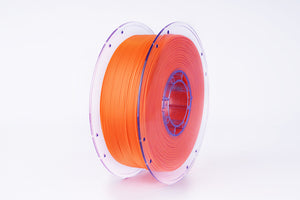 PLA 3D Printer Filament, 1.75mm, 1kg Clear Reusable Spool, Orange