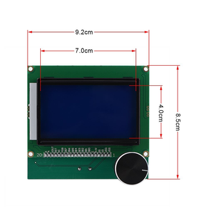 Creality CR-10S S4 S5 3D Printer Display Screen with 2 Cable