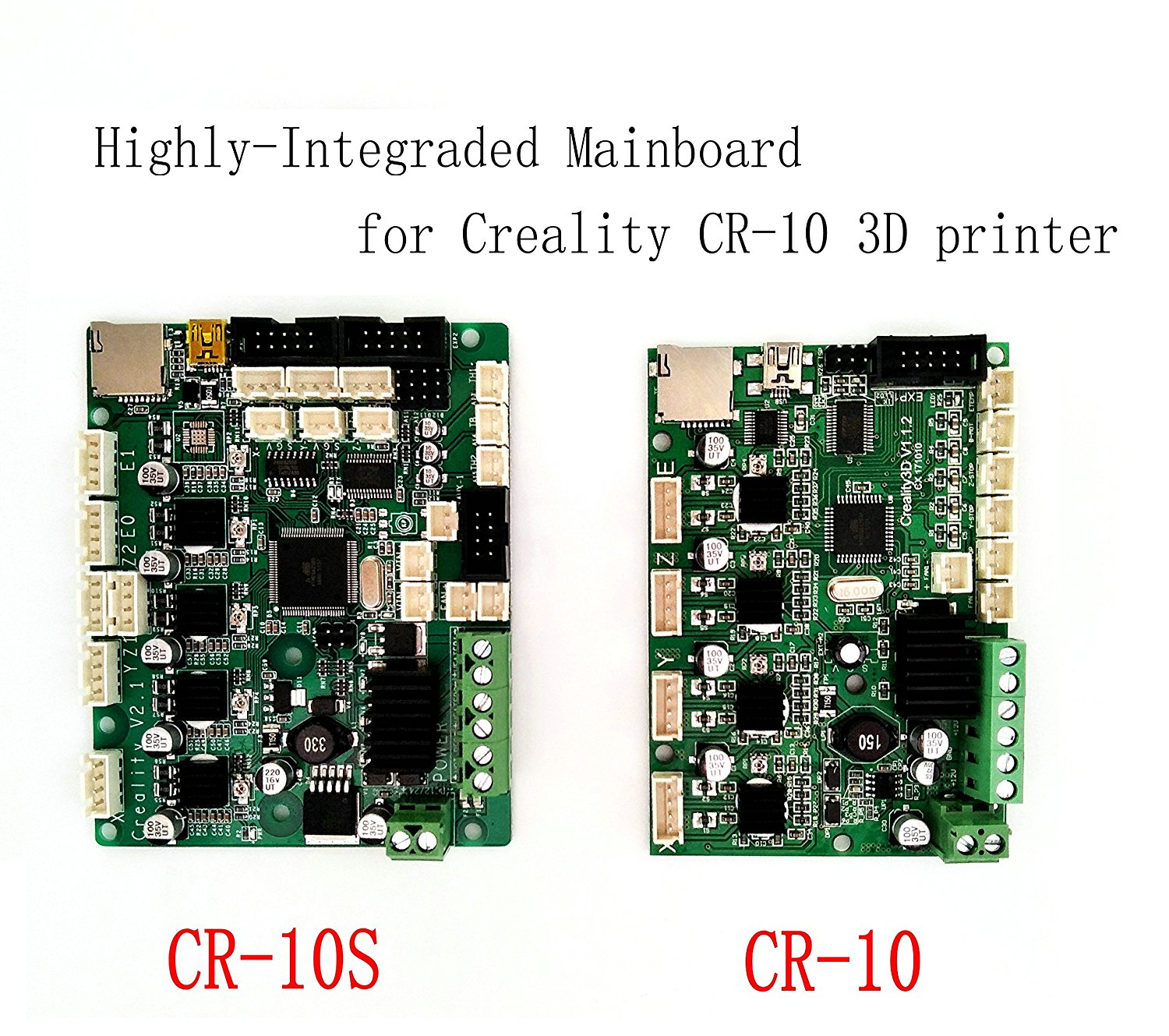 Creality CR-10S Mainboard Upgraded Replacement Controller Board Latest V2.1 Version Motherboard for Creality CR-10S S4 S5 3D Printer with Filament Monitoring Alarm