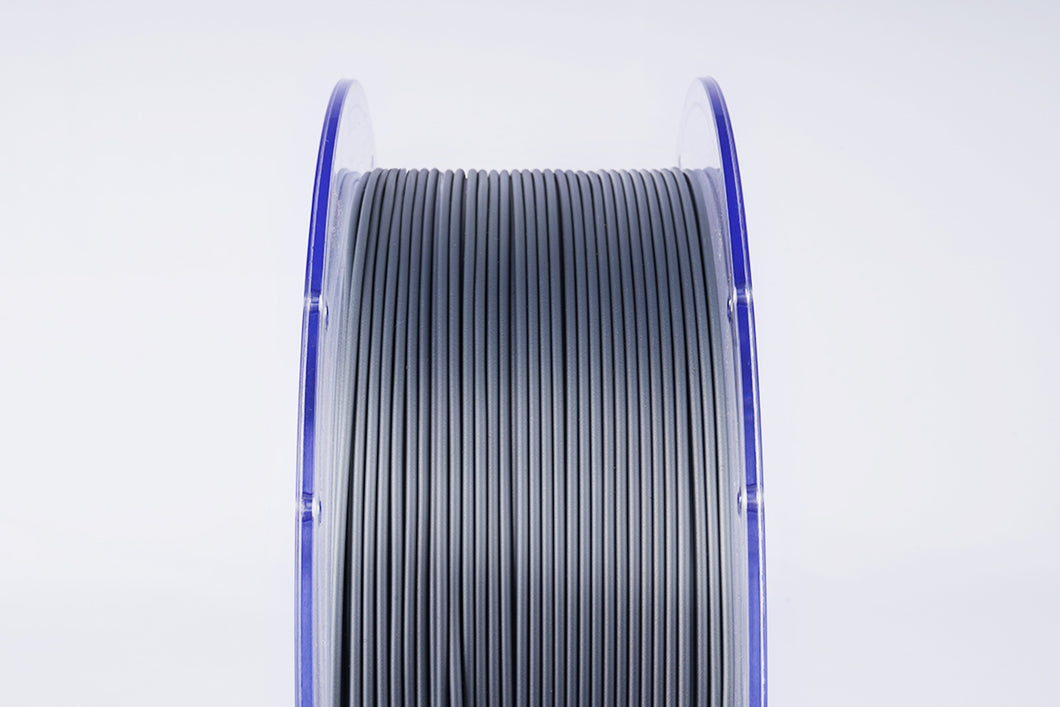 PLA 3D Printer Filament, 1.75mm, 1kg Clear Reusable Spool, Silver