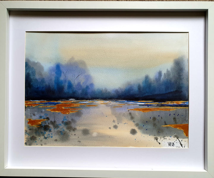 Limited Edition Signed framed prints by Victoria Alderson Art - Gold Lake
