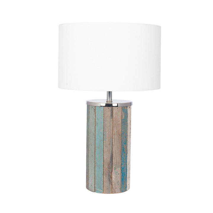 Kerala Distressed Wood Tall Table Lamp