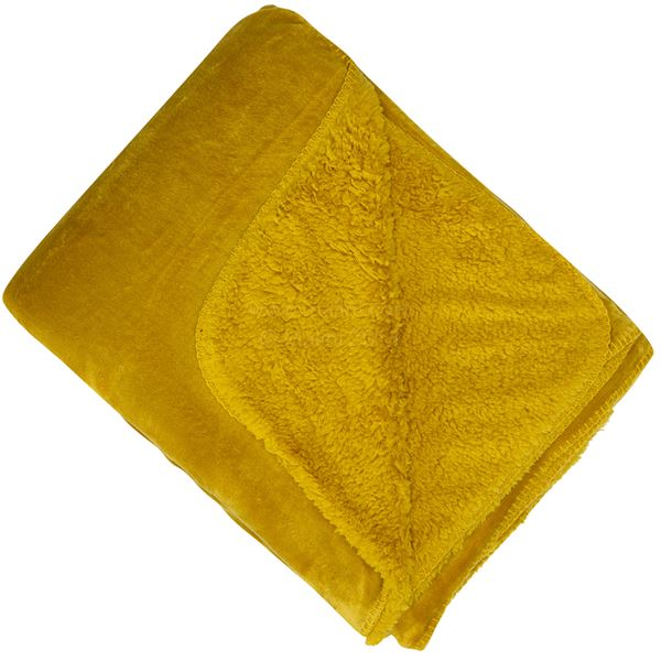 Malini Cosy Mustard Throw