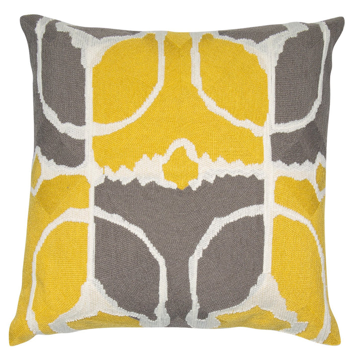 Rumble Mustard Grey Cushion
