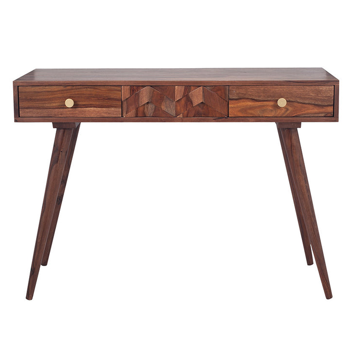 Taj Sheesham Wood Honeycomb Design Console
