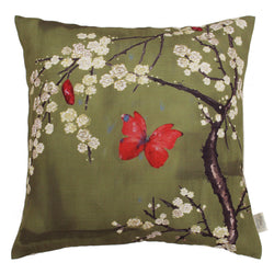 The Chateau Blossom Cushion - Green