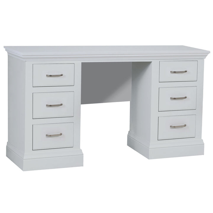 Coelo Painted Double Pedestal Dressing Table