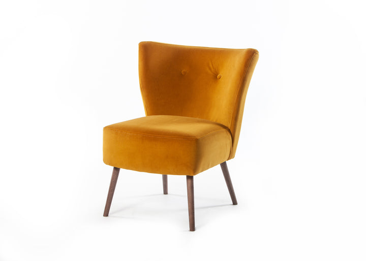 Chloe Chair Passione Saffron with Smoke Leg