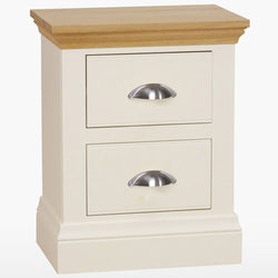 Coelo Small 2 Drawer Wood Top Bedside