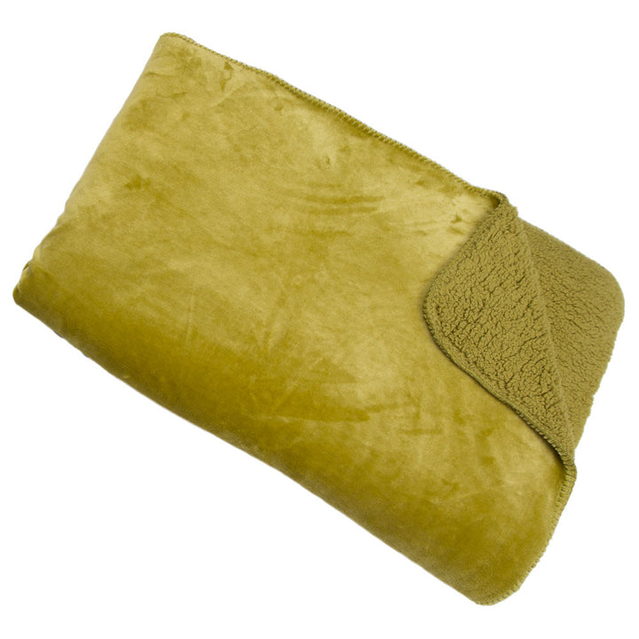 Cosy Throw - Lime Green