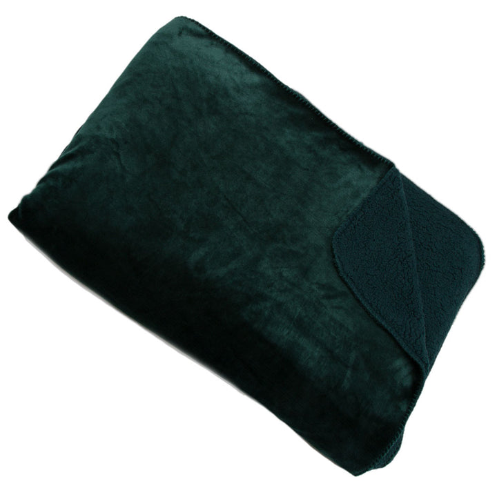 Cosy Throw - Emerald Green