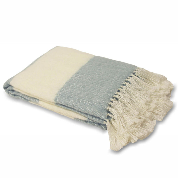 Cotswold Throw - Duck Egg Blue