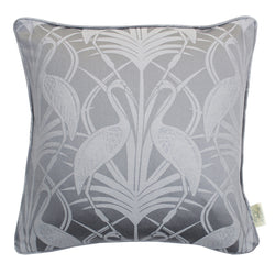 The Chateau Deco Heron Cushion Grey