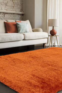 Payton Deep Pile Orange Rug