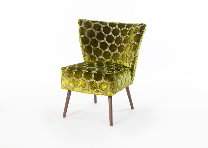 Madipur Moss Chair with Smoke Legs