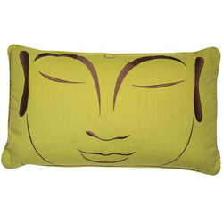 Malini Zen Green Rectangular Cushion