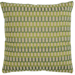 Soho Green Abstract Woven Cushions