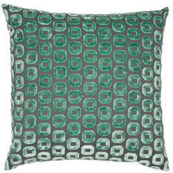 Bentley Mint Geo Pattern Cushion