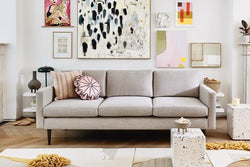 Model 01 Linen 3 Seater Sofa - Pumice