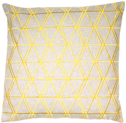 Ludwig Mustard Grey Cushion