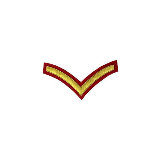1 Stripe Chevron Badge Gold Bullion On Red