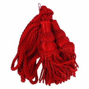 Bagpipe Cord Silk Red