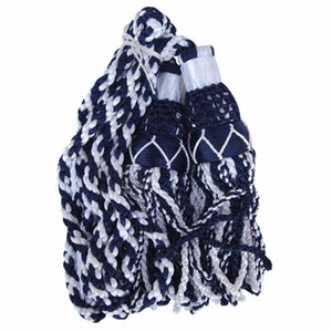 Bagpipe Cords Silk Navy Blue And White