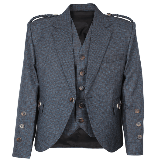 Argyll Jacket Blue Serge Wool With Waistcoat