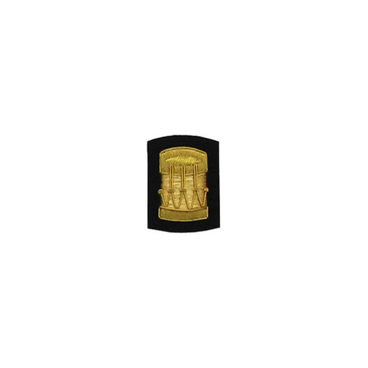Drum Badge Gold Bullion On Black