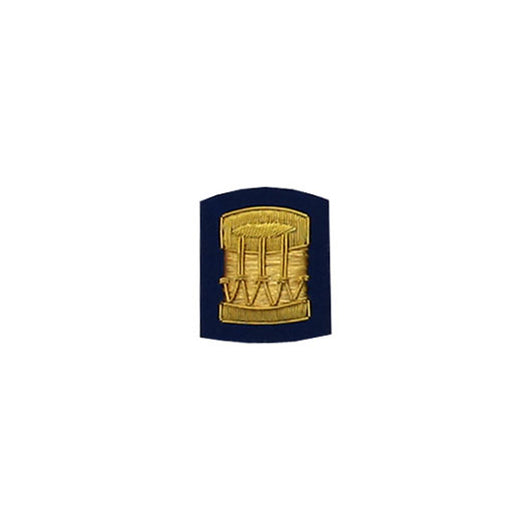 Drum Badge Gold Bullion On Blue