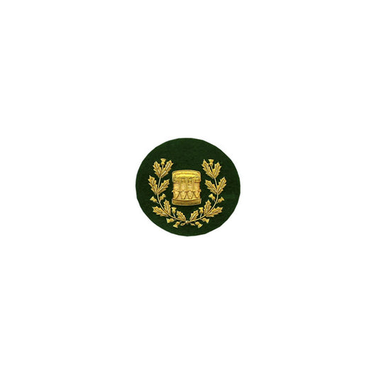 Drum Major Badge Gold Bullion On Green