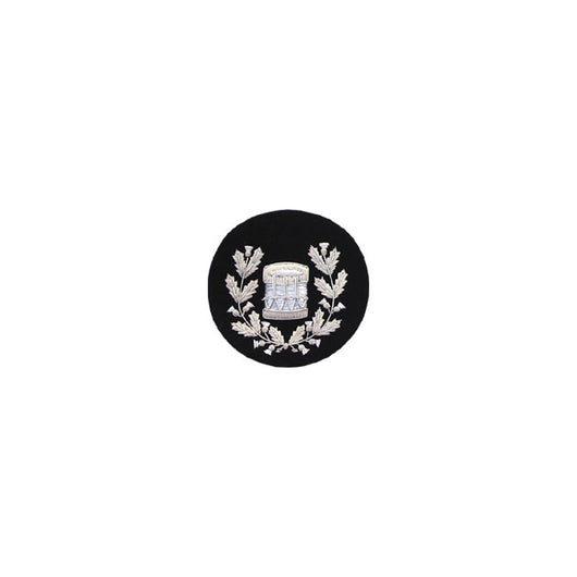 Drum Major Badge Silver Bullion On Black