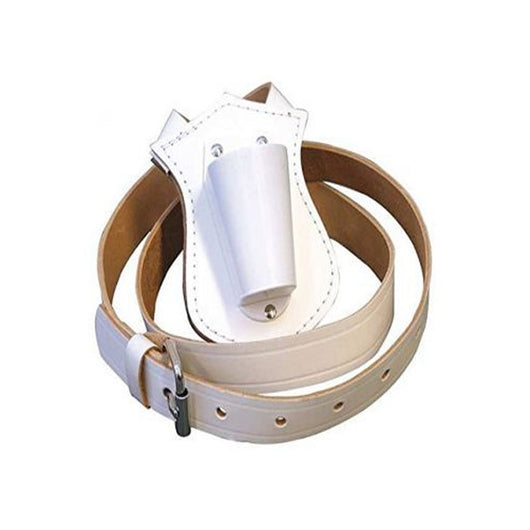 Flag Carry Belt In White Leather