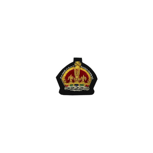 Kings Crown Badge Gold Bullion On Black