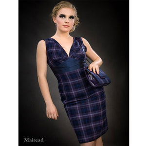 Mairead, an elegant short tartan dress