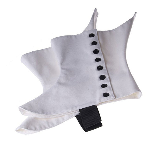 Regimental Spats Heavy Canvas White With Black Buttons