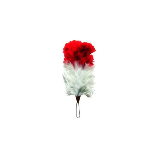 Red Over White 5 Inch Feather Hackle 12 PCS