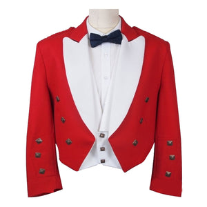 Red Prince Charlie Jacket & White Vest